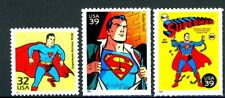 Superman  Complete Set of 3 MNH US Postage Stamps Scott's 3185f, 4084a and 4084k