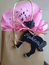24 Chalkboard Cardstock Pony Horse Western Cowgirl Birthday party favor tags