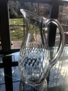 "Baccarat Crystal Water Pitcher 10 1/2"" SIGNED"