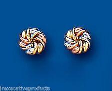 Knoten Ohrringe Ohrstecker drei Farben GOLD rosegold Weiß- & Gelbgold