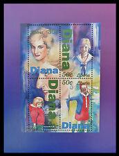 LIBERIA Wholesale Princess Diana Memoriam Min/Shts Childhood BLK 4 x 100 CD 590