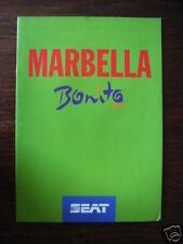 Seat Marbella Bonito Sondermodell, Prospekt / Brochure