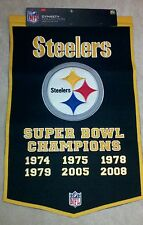 Pittsburgh Steelers Wool Super Bowl Banner NFL Dynasty Collection NEW