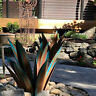 DIY Metal Art Tequila Rustic Sculpture Garden Yard Home Decoration With 9 leaves