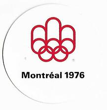 WORLD SUMMER OLYMPIC GAMES MONTREAL 1976 OFFICIAL LOGO STICKER UNUSED!