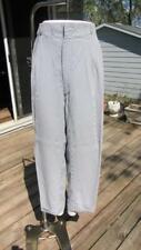 Mens 1930/40 Wide Leg Pleated Blue & White Stripe Seersucker Pants 40W