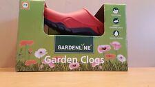 Gardenline Garden Clogs Mens 7/8 Womens 9/10 Rubber Slip On Removable New