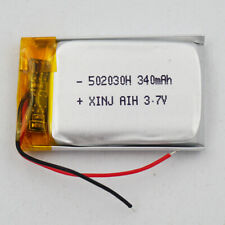 3.7V 340 mAh rechargeable Polymer Li battery For Bluetooth Watch glasses 502030