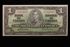 1937 Canada. ($1) One Dollar. Series U/A. Gordon-Towers.