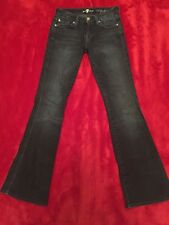 7 For All Mankind A POCKET Women's Jeans Flare 24 X 31 Dark Wash Stretch