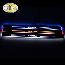Sncn LED Moving Welcome Door Sill Scuff Plate for Nissan Qashqai 2015-2016