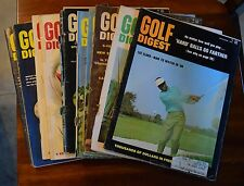 LOT OF (10) GOLF DIGEST MAGAZINES ALL 1968 DEC SEPT NOV MAYX2 JAN JUNEX2 JULYX2
