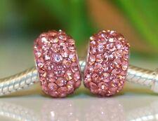 Rose, Rose Vif Vieux rose Diamant CZ Strass En Cristal En Argent Sterling 925