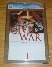 Civil War #1 CGC 9.8 marvel's avengers - director's cut edition - 30 bonus pages