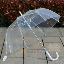 """46"""" Large Clear Full Dome Style Umbrella - Rain Stoppers Bubble Travel Wedding"""
