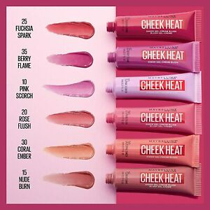MAYBELLINE Cheek Heat Blusher 10ml - CHOOSE SHADE - NEW Sealed