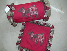 Decorative Red Jakarta Elephant Bolster / Square Pillows