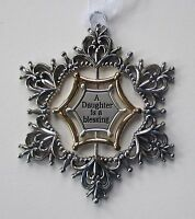 15cd A daughter is blessing silver gold ORNAMENT swirling 3d Snowflake Ganz