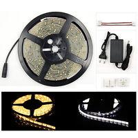 LED Stripe 3/5m Wasserdicht Band Lichterkette Streifen 3528SMD Warmweiß Weiß