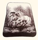 San Marcos Blanket Horses Mustangs 60' x 84' Thick Heavy With Tag *EXCELLENT*