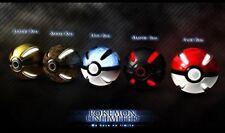 Pokemon Mat Game Mouse Pad Pokeball Types