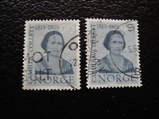 NORVEGE - timbre yvert et tellier n° 451 x2 obl (A30) stamp norway (T)