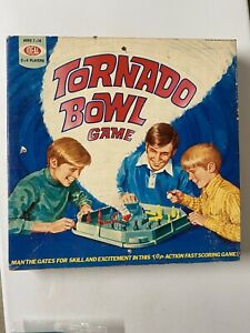 Tornado Bowl Vintage Ideal 1971 Board Game Pins & Top in Box Nice Condition