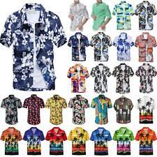 Sommer Herren Hawaiihemd Freizeithemd Strand Kurzarmshirt T-Shirt Hemd Bluse Top