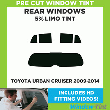 Pre Cut Window Tint - Toyota Urban Cruiser 2009-2014 - 5% Limo Rear