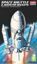 Model Kit Academy Space Shuttle & Booster Rockets 1:288 scale Snap Tite Kit