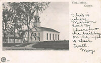Congregational Church, Columbia, Connecticut, Early Postcard, Used in 1907