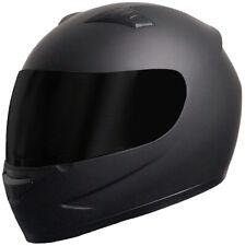 Integralhelm Motorradhelm Helm 805 Rollerhelm Sturzhelm matt schwarz   S M L X