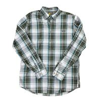 Eddie Bauer Men's Class Fit Plaid Long Sleeve Button Front TL Tall Large