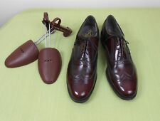 Vtg Extra Nice British Walkers Usa Custom Leather Wing Tip Oxfords Shoes 11 D