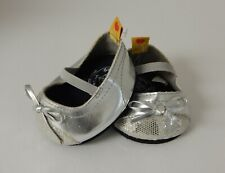 Build A Bear - Metallic Silver Sparkle Toed Flats w/Bow