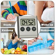 Digital Timer Stainless Steel Shell Large Digits Display for Kitchen Office Game