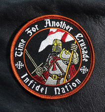 TIME FOR ANOTHER CRUSADE CHRISTIAN INFIDEL TACTICAL MORALE HOOK PATCH