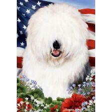 Patriotic (1) House Flag - Old English Sheepdog 16129