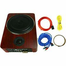 8'' 600W Wooden Powered Car Under-Seat Subwoofer Amplifier Slim Audio Super Bass