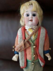 Antique German 10 in Glass Eye  German bisque head Doll All Original!!