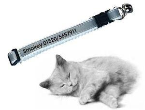 Katzenhalsband reflektierend, bedruckt mit Namen & Telefon-Nr für ihren Liebling