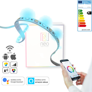Smart LED Streifen Stripe 5m RGBW + CCT dimmbar IP65 WiFi Alexa Google Assist