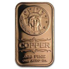 1 oz 999 Kupferbarren Medaillen Barren Liberty Head USA Kopf d. Freiheitsstatue