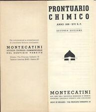 SCIENZA TECNICA CHIMICA INDUSTRIALE MONTECATINI PRONTUARIO CHIMICO