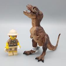 More details for papo brown baby tyrannosaurus rex dinosaur 55029 rare figure retired model bnwt