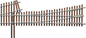 Micro Engineering 14-716 HO #5d Intermediate Ladder Left Hand Switch Turnout