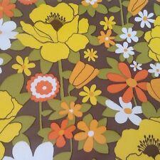 Mid Century Modern flower power retro Vintage 1970s 60s Vinyl Wallpaper