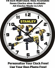 STANLEY POWER TOOLS WALL CLOCK-FREE USA SHIP!