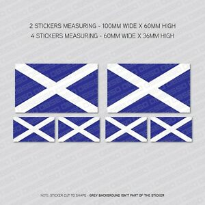 6 x Saltire Scottish Flag Vinyl Stickers Decals  Car Van - SKU5522