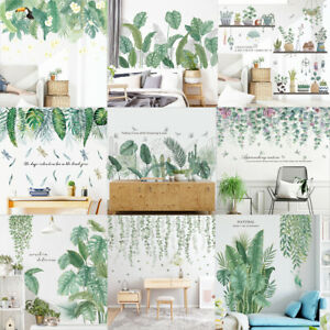 Tropical Foliage Leaves Plant Wall Sticker Vinyl Decal Nursery Home Art Mural